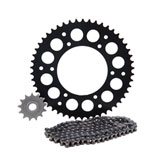Primary Drive Alloy Kit & 420 MC Chain Black Rear Sprocket