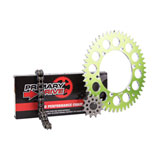 Primary Drive Alloy Kit & O-Ring Chain Green Rear Sprocket