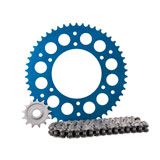Primary Drive Alloy Kit & X-Ring Chain Blue Rear Sprocket