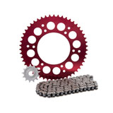 Primary Drive Alloy Kit & O-Ring Chain Red Rear Sprocket