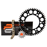 Primary Drive Alloy Kit & Gold X-Ring Chain Black Rear Sprocket