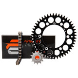 Primary Drive Alloy Kit & O-Ring Chain Black Rear Sprocket
