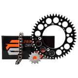 Primary Drive Alloy Kit & X-Ring Chain Black Rear Sprocket