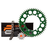 Primary Drive Alloy Kit & X-Ring Chain Green Rear Sprocket