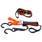 Pro Grip Soft-Grip Tie Downs w/Soft Hook Black/Orange