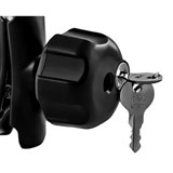"Ram Mounts Locking Knob with 1/4""-20 Brass Hole for B Size Arms"