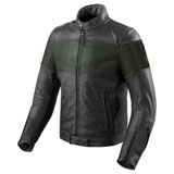 REV'IT! Nova Vintage Leather Jacket Black/Green