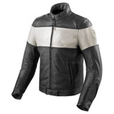 REV'IT! Nova Vintage Leather Jacket Black/White