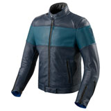 REV'IT! Nova Vintage Leather Jacket Blue/Blue
