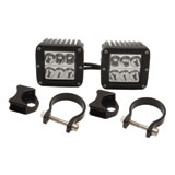 Rigid Industries Dually D2 LED Wide Beam Lights With Vertical Light Mounts
