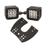 Rigid Industries Dually D2 LED Lights with ATV Mount
