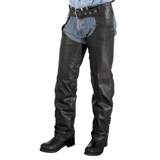 River Road Basic Leather Motorcycle Chaps