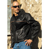 River Road Twin Iron Leather Motorcycle Jacket