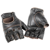 River Road Buster Shorty Leather Motorcycle Gloves