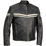 River Road Hoodlum Leather Motorcycle Jacket