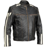 River Road Roadster Leather Motorcycle Jacket