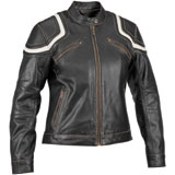 River Road Babe Ladies Leather Motorcycle Jacket