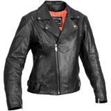 River Road Saphire Ladies Leather Motorcycle Jacket