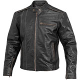 River Road Petro Distressed Leather Motorcycle Jacket