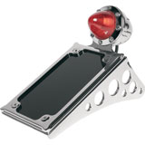 Roland Sands Design Tracker Tail Light with Vertical License Plate Holder Passenger Peg Mount
