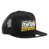 Ryno Power Mesh Snapback Hat Black