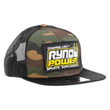 Ryno Power Mesh Snapback Hat Camo/Black
