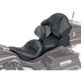Saddlemen Road Sofa Deluxe Touring Seat w/Driver Backrest & Tour Pak Pad Cover