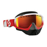 Scott Hustle SnowCross Goggle  Oxide Red-White Frame/Red Chrome Lens