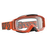 Scott Tyrant Goggle  Orange Frame/ Clear Works Lens