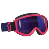 Scott Recoil Xi Chrome Goggle Blue-Fluo Pink Frame/Purple Chrome Works Lens