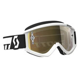 Scott Recoil Xi Chrome Goggle 2017  White Frame/Gold Chrome Works Lens
