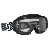Scott Hustle Goggle Black-White Frame/Clear Works Lens