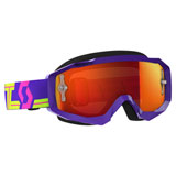 Scott Hustle Goggle Purple-Yellow Frame/Orange Chrome Works Lens