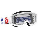 Scott Hustle Goggle White-Red Frame/Clear Works Lens