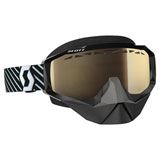 Scott Hustle SnowCross Goggle  Black-White Frame/Light Sensitive Bronze Chrome Lens