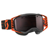 Scott Prospect SnowCross Goggle  Black-Orange Frame/Amplifier Silver Chrome Lens
