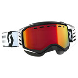 Scott Prospect SnowCross Goggle  Black-White Frame/Amplifier Red Chrome Lens