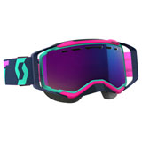 Scott Prospect SnowCross Goggle  Teal-Pink Frame/Amplifier Teal Chrome Lens