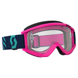 Scott Recoil Xi Goggle  Pink-Teal Frame/Clear Works Lens