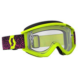 Scott Recoil Xi Goggle  Yellow-Pink Frame/Clear Works Lens