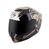 Scorpion Women's EXO-R420 Sugarskull Helmet Black/Gold