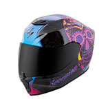 Scorpion Women's EXO-R420 Sugarskull Helmet Black/Pink