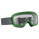 Scott Youth Buzz Goggle Green Frame/Clear Lens