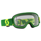 Scott Youth Buzz Pro Goggle Green-Yellow Frame/Clear Works Lens