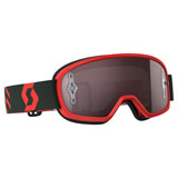 Scott Youth Buzz Pro Goggle Red-Black Frame/Silver Chrome Works Lens
