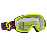 Scott Youth Buzz Pro Goggle Yellow-Pink Frame/Clear Works Lens