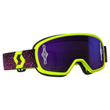 Scott Youth Buzz Pro Goggle Yellow-Pink Frame/Purple Chrome Works Lens