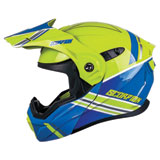 Scorpion EXO-AT950 Teton Cold Weather Modular Helmet Blue/Hi-Viz
