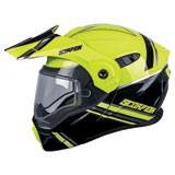 Scorpion EXO-AT950 Teton Cold Weather Modular Helmet Hi-Viz/Black