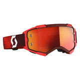 Scott Fury Goggle Red Frame/Orange Chrome Lens